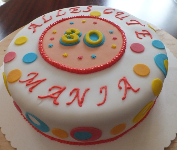Fertige Fondanttorte