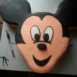 Mickey Mouse Gesicht Torte